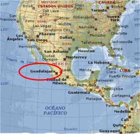 Guadalajara Jalisco Mexico Maps